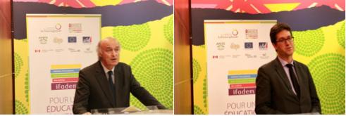 M. Jean-Paul de Gaudemar, recteur de l'AUF, M. Nicolas Simard, Chef de Bureau de l'Administrateur de l'OIF ©IFADEM