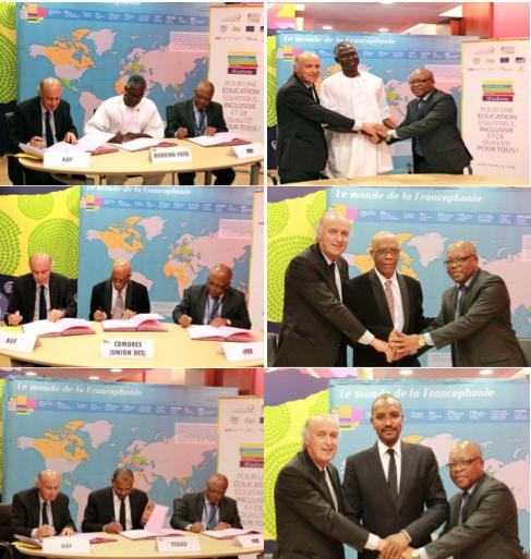 Cérémonie de signature d'accords-cadres IFADEM avec le Burkina Faso, les Comores et le Tchad ©IFADEM